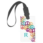Personalize Abstract Peace Symbols Luggage Tag