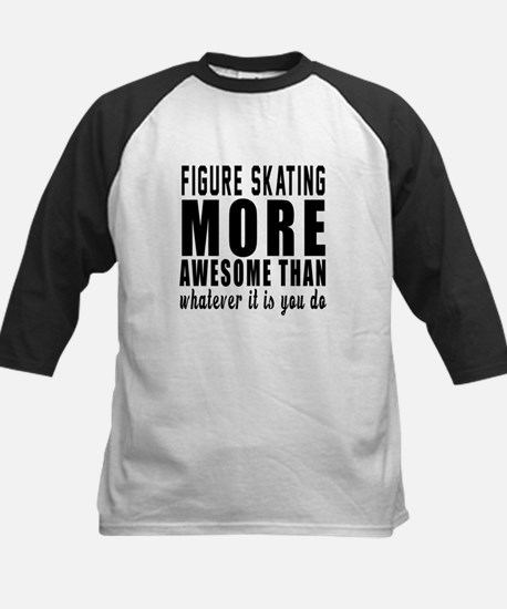 Figure Skating More Awesome D Kids Baseball Jersey