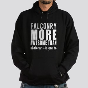 Falconry More Awesome Designs Hoodie (dark)