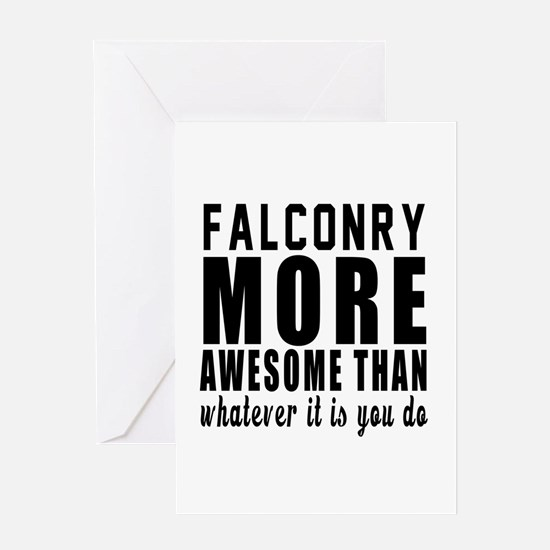 Falconry More Awesome Designs Greeting Card