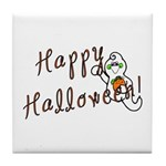 Happy Halloween Ghost Tile Coaster