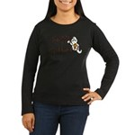 Happy Halloween Ghost Women's Long Sleeve Dark T-S