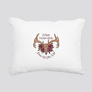 Hunter Lives Here Rectangular Canvas Pillow