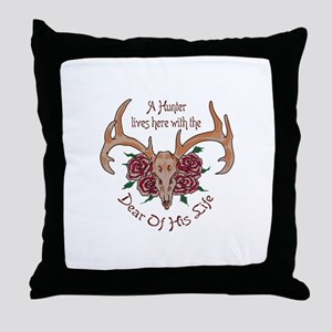 Hunter Lives Here Throw Pillow