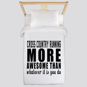 Cross Country Running More Awesome Desi Twin Duvet