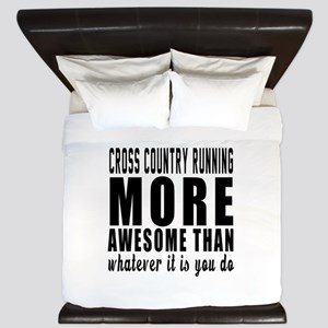 Cross Country Running More Awesome Desi King Duvet