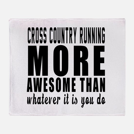 Cross Country Running More Awesome D Throw Blanket