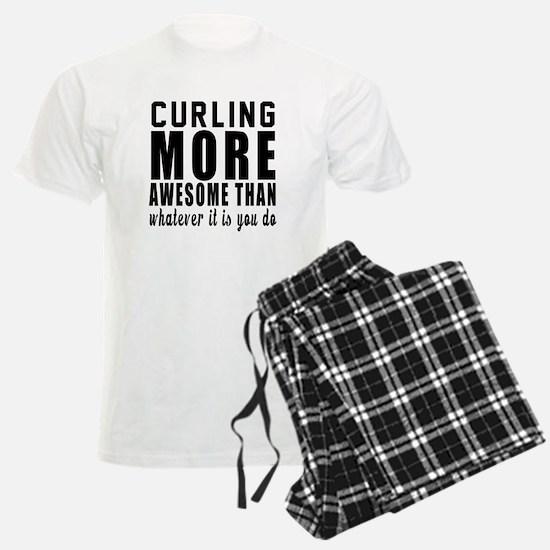 Curling More Awesome Designs Pajamas