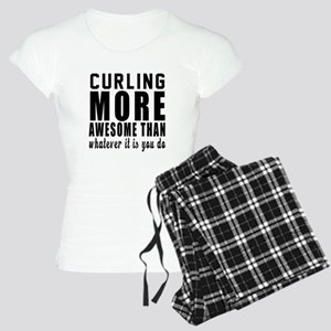 Curling More Awesome Design Women's Light Pajamas