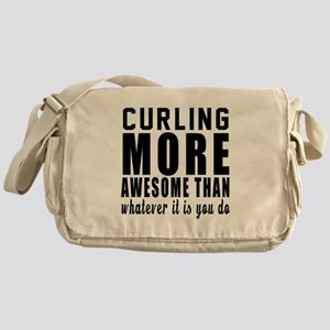 Curling More Awesome Designs Messenger Bag