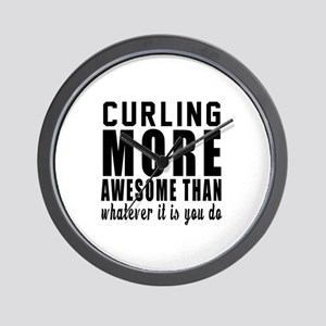 Curling More Awesome Designs Wall Clock