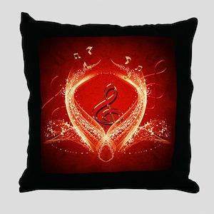 Decorative clef Throw Pillow