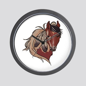 Feathered Horse Wall Clock