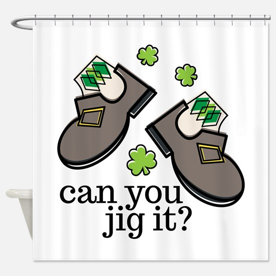 Can You Jig It Shower Curtain