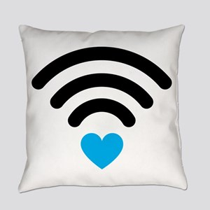 Wifi Heart Everyday Pillow