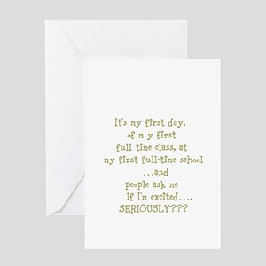 excited Greeting Cards