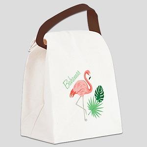 Bahamas Flamingo Canvas Lunch Bag