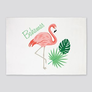 Bahamas Flamingo 5'x7'Area Rug