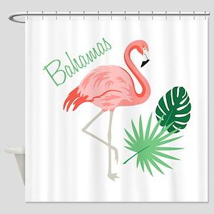 Bahamas Flamingo Shower Curtain