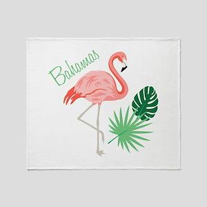 Bahamas Flamingo Throw Blanket