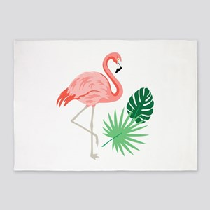 Pink Flamingo 5'x7'Area Rug