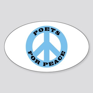 Poets For Peace Oval Sticker
