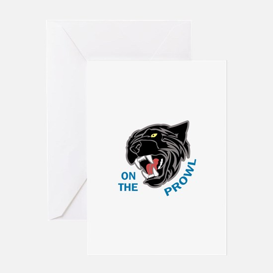 Panther On The Prowl Greeting Cards