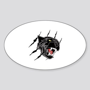 Panther Head Claw Marks Sticker