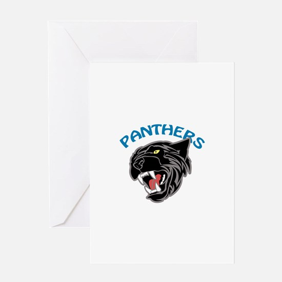 Team Panthers Greeting Cards