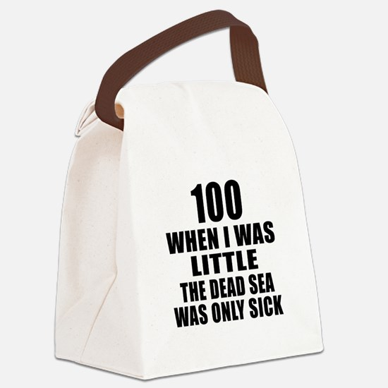 100 When I Was Little Birthday Canvas Lunch Bag