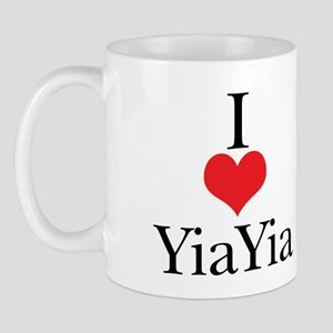 I Love (Heart) YiaYia Mug