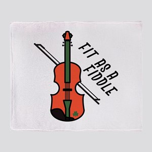 Fit As Fiddle Throw Blanket