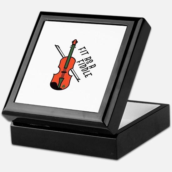 Fit As Fiddle Keepsake Box