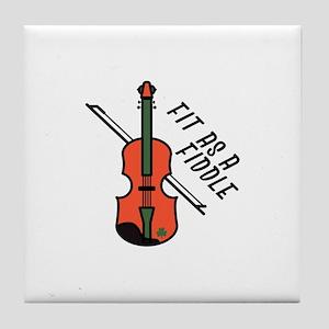 Fit As Fiddle Tile Coaster