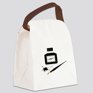 Calligraphy Canvas Lunch Bag