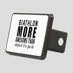 Biathlon More Awesome Desi Rectangular Hitch Cover