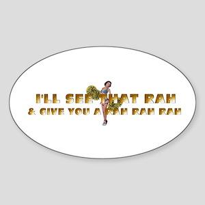 Rah Rah Rah Sticker (oval)