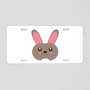 Bunny Head Aluminum License Plate
