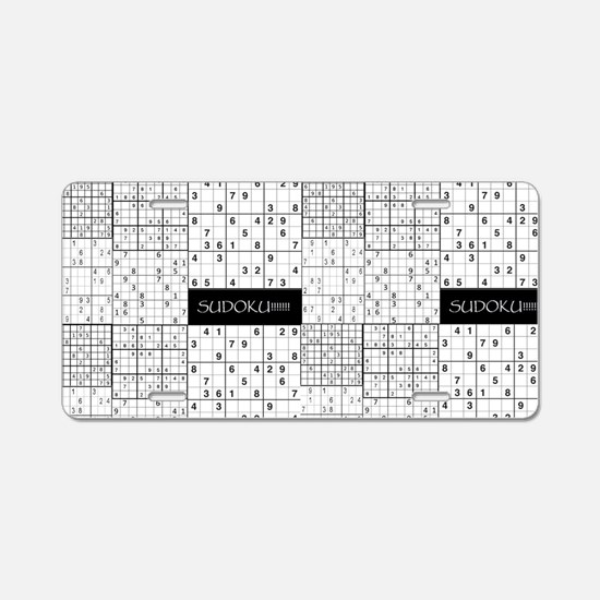Cute Sudoku Aluminum License Plate