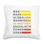 Socialist Power Grab Square Canvas Pillow
