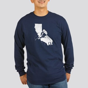 Ski California Long Sleeve Dark T-Shirt