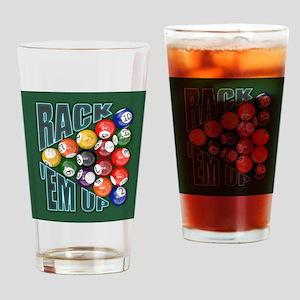Rack Em Up Drinking Glass