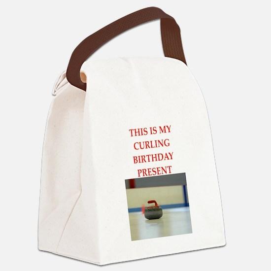 a birthday present Canvas Lunch Bag