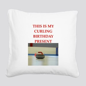 a birthday present Square Canvas Pillow