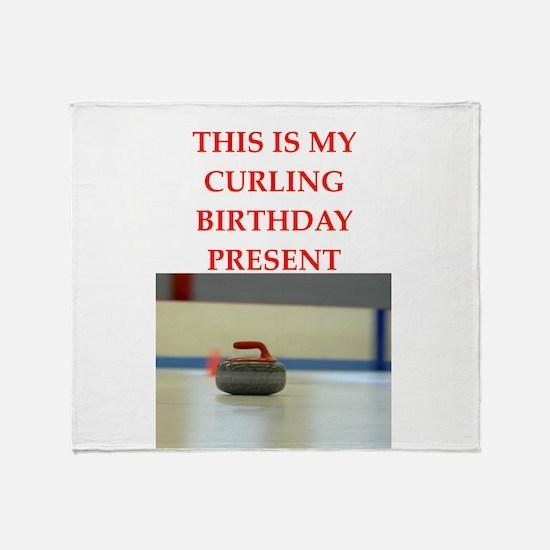 a birthday present Throw Blanket
