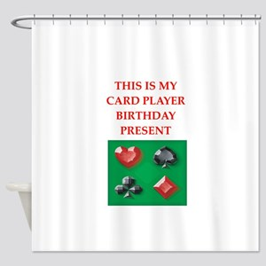 card players Shower Curtain