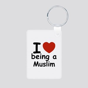 i love being a muslim Aluminum Photo Keychain