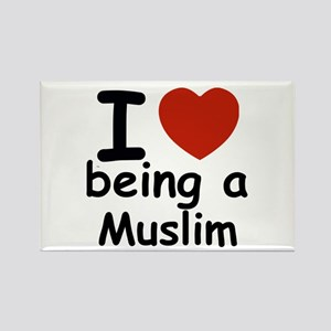 i love being a muslim Rectangle Magnet