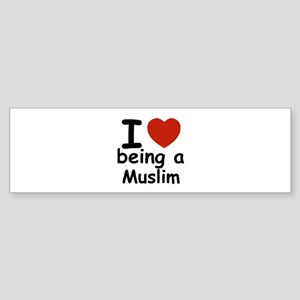 i love being a muslim Sticker (Bumper)