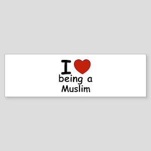 i love being a muslim Sticker (Bumper)